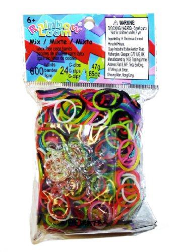 Rainbow Loom – Colour Bands Mix – Elastiques Multicolores (Import Royaume-Uni)