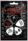 Alice Cooper Set Of 5 Guitar Plectrums
