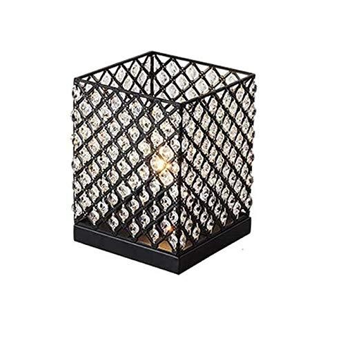 Liangsujiantd Flexo Led Escritorio, Lámpara American Crystal tabla, base de hierro, hierro lámpara de escritorio, creativo sencillo, mesa luminosa noche se enciende, linterna for sala de estar, de noc