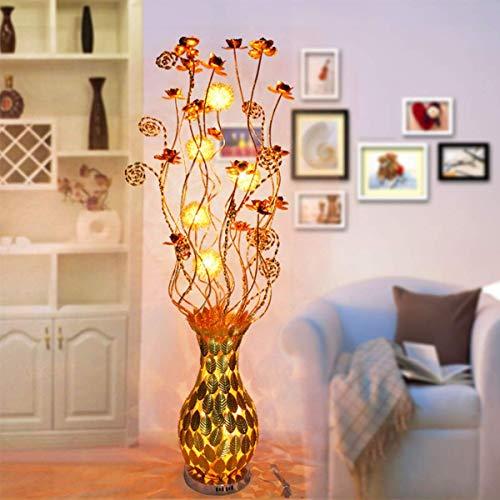 YXYOL Modern Metal Floor Light Vase Lamp,Art Deco Industrial Floor Lamp Weaving Process E27 Reading Lamp for Bedroom, Living Room, Office Home Decoration
