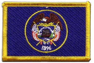Digni Écusson brodé Flag Patch USA US Utah - 8 x 6 cm