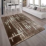 alfombra pelo corto marron