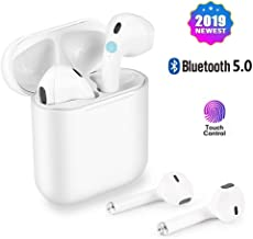 Cordless Earbuds Bluetooth Headsets Wireless Stereo Earphones Mini Earbuds Sports Headphones for iPhone Xs Max/XS/XR/X/8/7 Plus/7/6s Samsung Galaxy S10/S9 Plus/S8 Plus/S7 iOS and Android Devices.