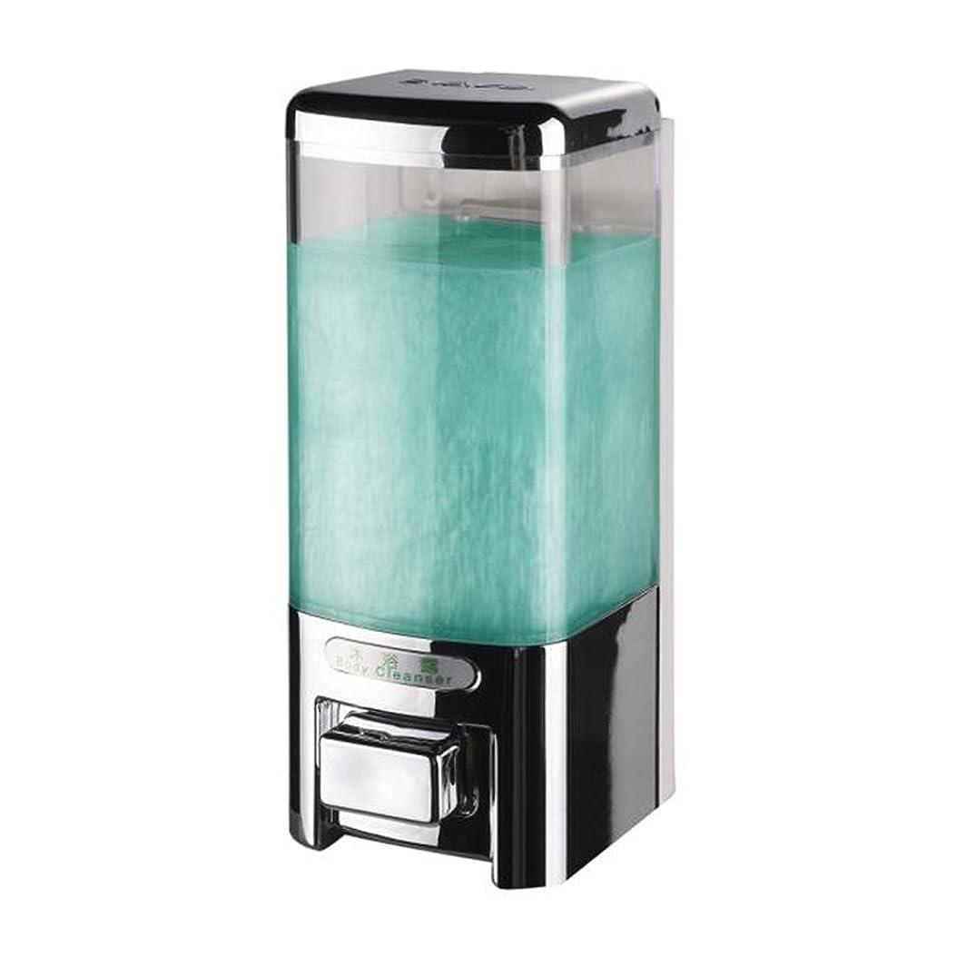 スカイジェーンオースティン擬人化Svavo v-8101プラスチック壁マウントHand Soap Dispenser forホテルキッチンバスルームホワイト、クロム500?ml 1のパック V-8101-Chrome
