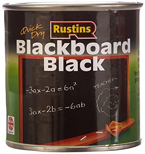 Rustins BLAB250 250ml Quick Dry Blackboard Paint - Black