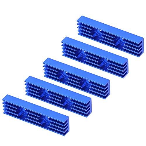 Haowecib Enfriador del módulo del disipador de Calor, radiador de Calor Fuerte y Duradero Larga Vida útil para Placas de Potencia para aparatos eléctricos para transistores para componentes