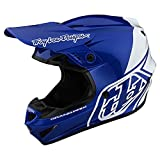 Troy Lee Designs Adult | Offroad | Motocross | GP Block Helmet (Blue/White, X-Large)