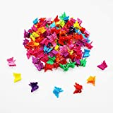 Butterfly Hair Clips, 100 Packs Assorted Color Beautiful Mini Butterfly Hair Clips Hair Accessories for Girls and Women(Random Color)By Xloey