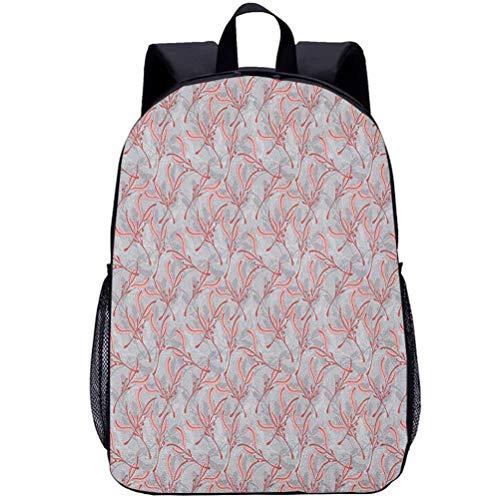 Printing Backpacks, Leaves, Kindergarten Cute Cartoon Schoolbag, 16 inch