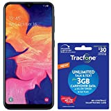 Tracfone Samsung Galaxy A10e 4G LTE Prepaid Smartphone (Locked) - Black - 32GB - SIM Card Included - CDMA - with $30 Airtime Bundle