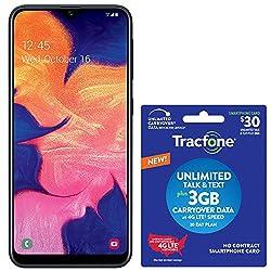 commercial Tracfone Samsung Galaxy A10e Smartphone and 4G LTE Prepaid (Lock) – Black – 32 GB – SIM Card… tracfone no camera