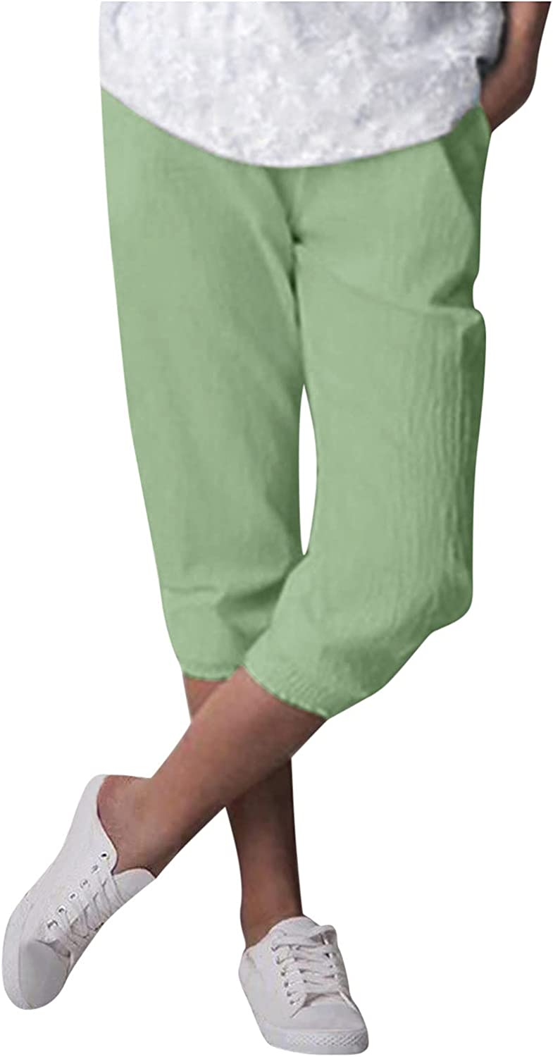 UBST Women Palazzo Lounge Pants Wide Leg Printed Cropped Pajama Bottoms Baggy Trousers Yoga Sweatpants with Pockets
