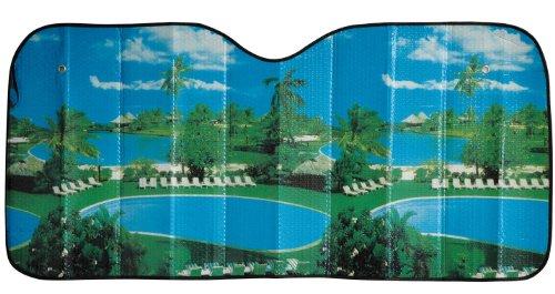 Cartrend 95109 Aluminium-Sonnenschutz mit farbigen Motiv-Druck - schützt vor Hitze und Sonnenstrahlen