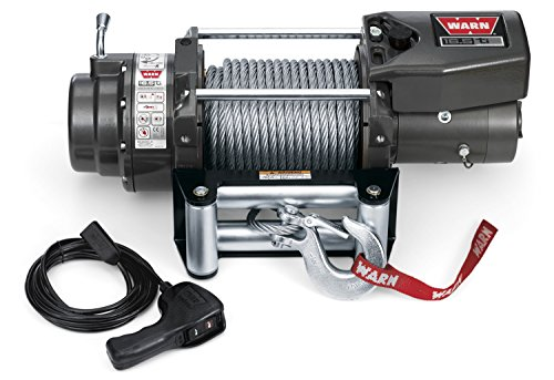 "WARN 68801 16.5ti Series Electric 12V Heavyweight Thermometric Winch with Steel Cable Wire Rope: 7/16"" Diameter x 90' Length, 8.25 Ton (16,500 lb) Pulling Capacity"