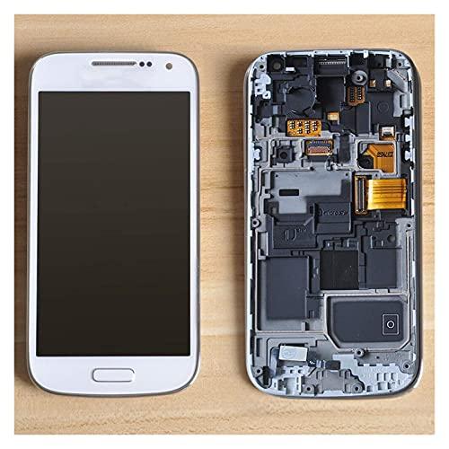 Accessory Kits - Pantalla LCD para Samsung Galaxy S4 Mini I9190 I9192 I9195 LCD táctil digitalizador Asamblea Marcos LCD Pantalla táctil (color blanco con marco)