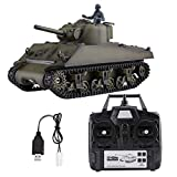 Haofy- RC Tank, 3898-1 1/16 Scale 2.4GHz Frequency Rechargeable Mini RC Tank Remote