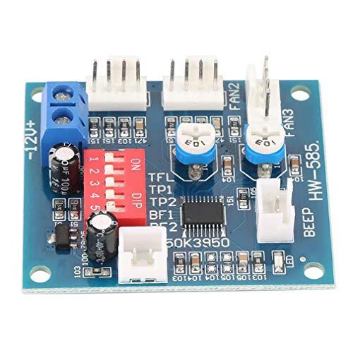 CandyTT Termistor PWM de 4 Cables PWM Sonda de Temperatura Controlador de Velocidad Módulo de Control Zumbador DC 12V 5A Ventilador de CPU (Azul)