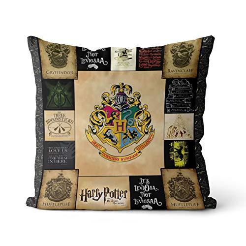 Funda de Almohada de Lino de Harry Potter de 45x45 cm, Adecuada para sofá, Funda de Almohada de enfermería, sin Relleno