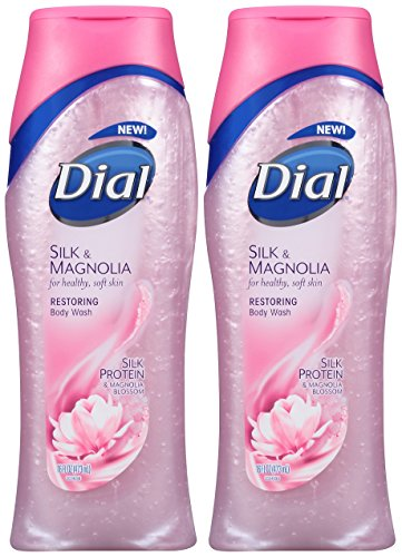 Dial Moisturizing Body Wash, Silk & Magnolia with Silk Protein and Magnolia Blossom, 16 oz by Dial