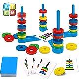 GIOBABY Brettspiel Spielzeug,Pädagogisches Kinderspiele mit Farbkarte und...