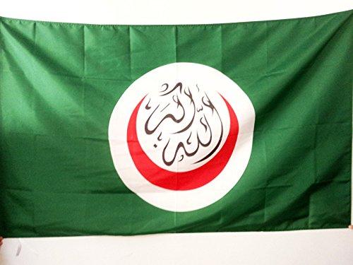 AZ FLAG Flagge Organisation FÜR ISLAMISCHE ZUSAMMENARBEIT 150x90cm - OIC Fahne 90 x 150 cm Scheide für Mast - flaggen Top Qualität