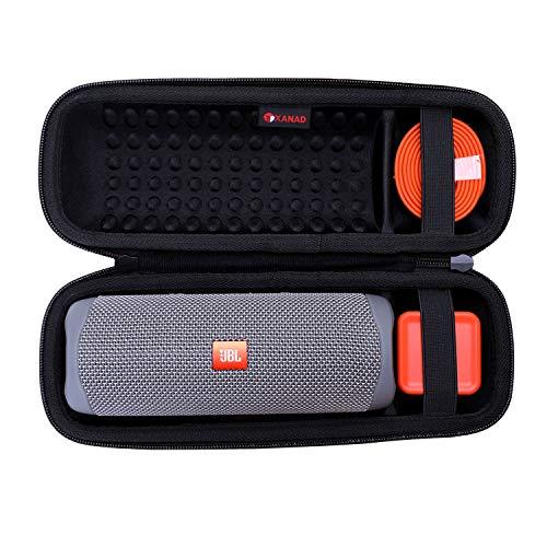 XANAD Hart Reise Tragen Tasche für JBL Flip 5 Bluetooth Box Wasserdichter portabler Lautsprecher - Schutz Hülle (Schwarz)