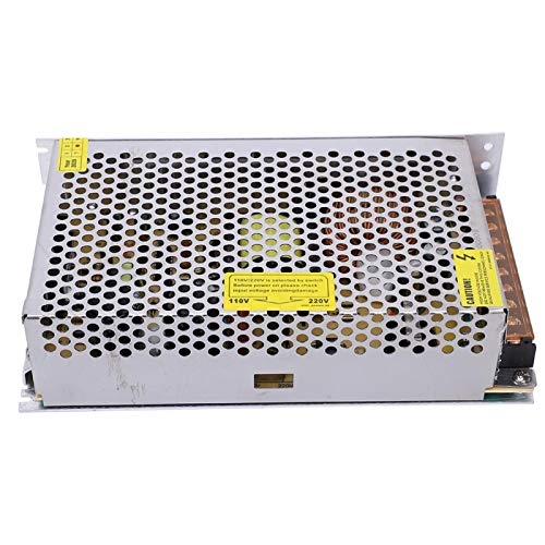 Regulador de fuente de alimentación, DC 24V 10A Fuente de alimentación conmutada regulada universal para CCTV de tira de LED, alimentación de banco de CC, CA 110V / 220V ± 20 % 47 / 63Hz