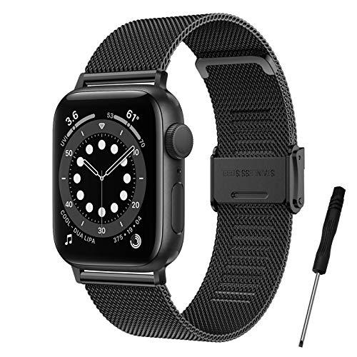 Younsea iWatch Metal Correa Compatible con Apple Watch Correa 42mm 44mm 40mm 38mm, Pulsera de Repuesto con Hebilla de Metal de Acero Inoxidable Compatible con iWatch Series 6 5 4 3 2 1 SE