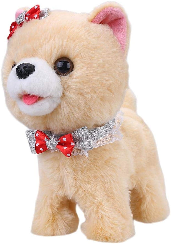 Keruite Cute Walking Singing Electric Dogs Plush Toys for Kids
