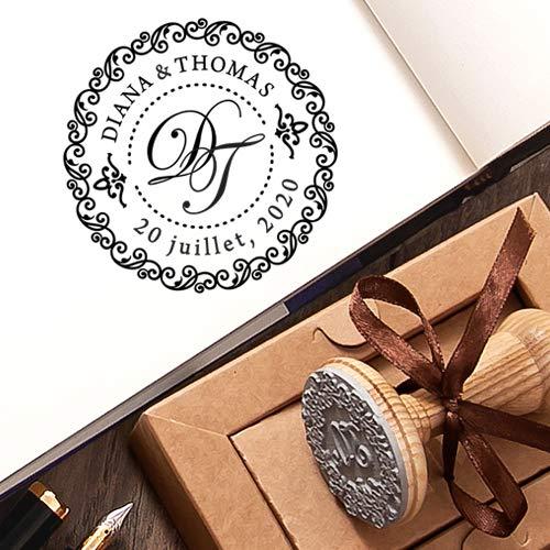 Save the Date Stempel initialen Personalisiert Hochzeit Einzigartige Geschenkbox