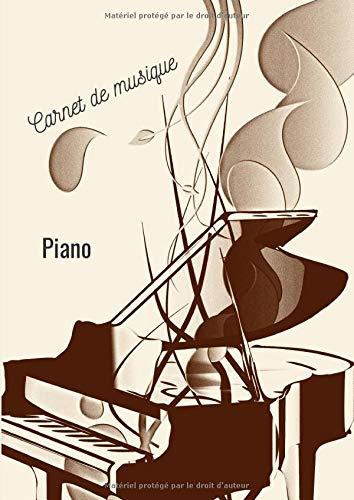Cahier de musique Piano: cahier de musique pour Piano , format A4 de 100 pages , 10 portées par page pour créer de nouvelles partitions, idéal pour débutant, amateur et pro
