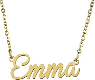 Name Necklace Personalized,Name Necklace Cursive Font Made with Name Pendant 16