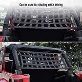 Rear Top Cargo Net for J-eep W-rangler, Car Roof Hammock Car Bed Rest J-eep Wrangler Accessories YJ, TJ, JK,JL YJ 1996-2020 Roof Storage Roll Cage Bar Restraint
