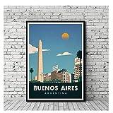 Vintage Reiseplakat Buenos Aires Malerei Poster druckt