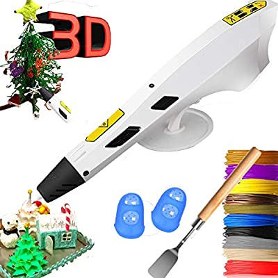 3D Pen Intelligent 3D Printing Pens with 12 Colors PLA Filaments Refills for Kids Toys and Adult Compatible with 1.75mm PLA/ABS Filament,Arts Crafts DIY Printer
