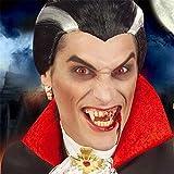 Nuevo vampiro moderno Cosplay peluca Drácula negro blanco color mezcla sintética peluca corta fiesta de Halloween Cosplay hombres vampiro peluca