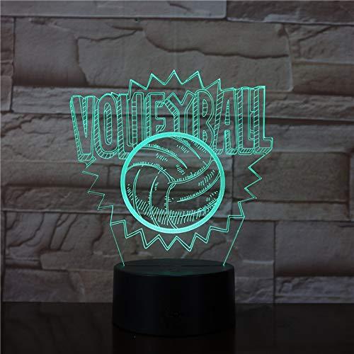Volleyball Creative Moderne Dimmer USB 3D LED Nachtlicht Tischlampe Nachttisch Dekoration Kinder Geschenk