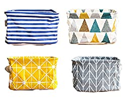 colorful fabric storage baskets for organization