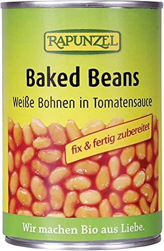 Rapunzel Bio Baked Beans in der Dose, weiße Bohnen in Tomaten (6 x 400 gr)