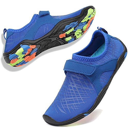 CIOR Boys & Girls Water Shoes Quick Drying Sports Aqua Athletic Sneakers Lightweight Sport Shoes(Toddler/Little Kid/Big Kid) DKSX-M.Deep blue-32