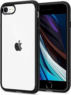 غطاء حماية من سبايجن لجوال ايفون وايفون 7، باطار اسود شفاف وهيكل هايبرد
