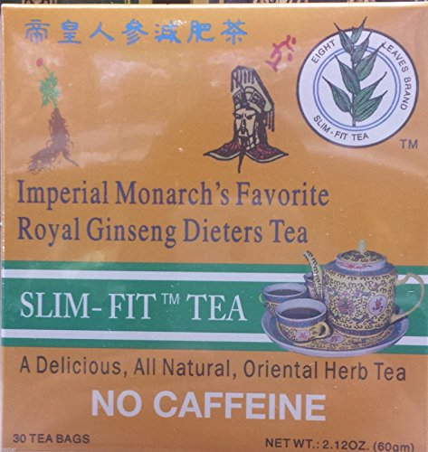 2 BOX OF Imperial Monarch's Favorite Royal Ginseng Dieters Tea by Eight Leaf 30 BAG EACH BOX 2.12OZ