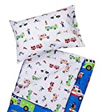 Wildkin Kids Microfiber Sleeping Bag for Boys and Girls, Includes Pillow Case and Stuff Sack, Perfect Size for Slumber Parties, Camping and Overnight Travel, BPA-free, Olive Kids (Heroes)