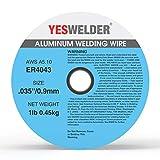 YESWELDER Silicon Aluminum Welding Wire ER4043 .035-Diameter, 1-Pound Spool