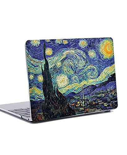 Funda Dura para MacBook Pro 13 Pulgadas 2019 2018 2017 2016 - Plástico Dura Case Carcasa&Tapa del Teclado para MacBook Pro 13.3' con/sin Touch Bar Modelo: A1706 A1708 A1989 A2159 - Noche estrellada