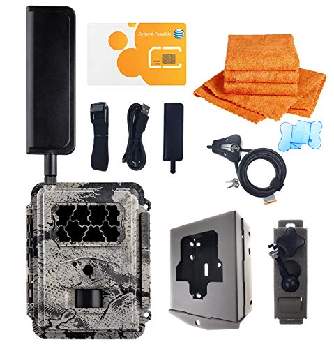 Spartan HD GoCam AT&T 4G Blackout Infrared FULL Package with UTowels Edgeless Microfiber Towels Spartan Trail Camera Package