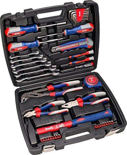 kwb Werkzeug-Koffer inkl. Werkzeug-Set, 42-teilig, gefüllt, robust und hochwertig, ideal für den Haushalt oder die Garage, GS geprüft, im praktischen Kunststoffkoffer