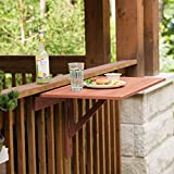 Leisure Season Wall Mounted Drop Leaf Table - Brown - 1 Piece - Collapsible Wooden Outdoor Floating Desk - Foldable Office and Home Patio, Kitchen, Study, Living Room, Bed Shelf - Cedar Wood