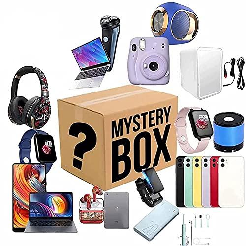 Mystery Box Eletrônico, Lucky Boxes (1-3 produtos) Mystery Blind Box, Super Econômico, Estilo Aleatório, Excelente custo-benefício, Dê a si mesmo uma surpresa ou como um presente para outras pessoas