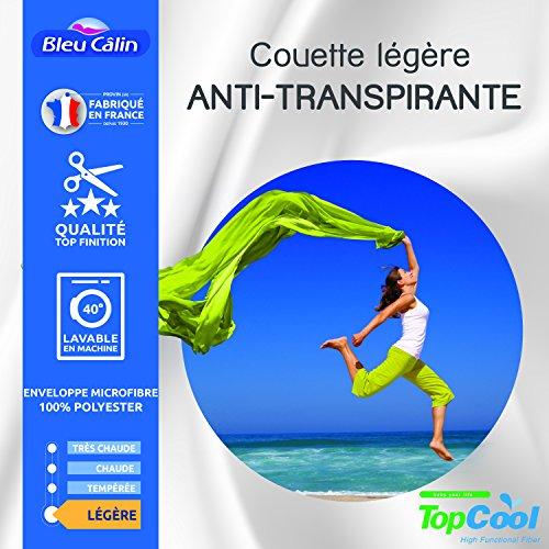 Bleu Calin Couette légère Anti transpirante 200 GR/m² (Couette légère Anti transpirante 200 GR/m² Blanche, 220 x 240 cm pour lit 2 Places 140 à 160 cm)